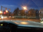 Windshield night view